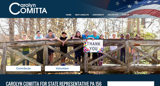 Carolyn Comitta for State Representative - Custom Website Design & Development