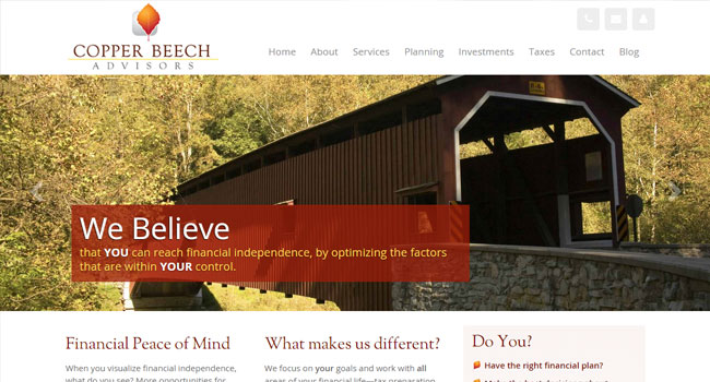 Copper Beech Advisors, LLC - Custom Web Design & WordPress Development