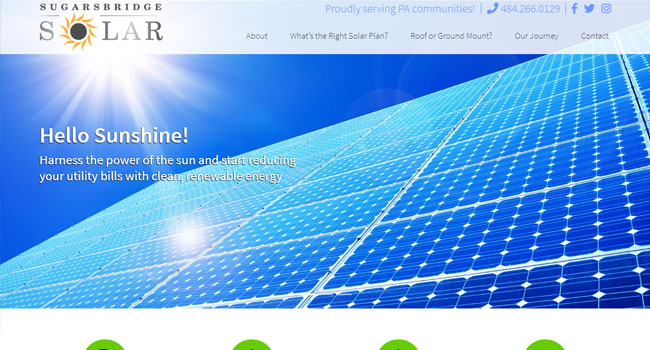 Sugarsbridge Solar - Custom Web Design & WordPress Development