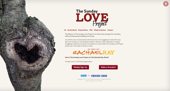 The Sunday Love Project - Custom Landing Page Design & Development