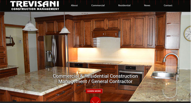 Trevisani Construction Management - Custom Web Design & WordPress Development
