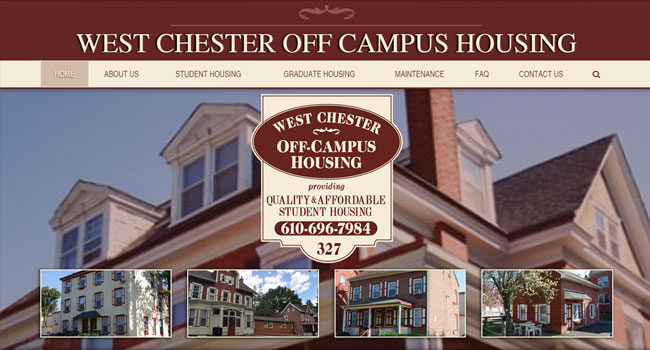 West Chester Off Campus Housing - Custom Website Design & Development
